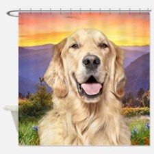 Golden Retriever Meadow Shower Curtain