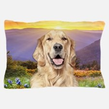 Golden Retriever Meadow Pillow Case
