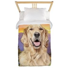 Golden Retriever Meadow Twin Duvet