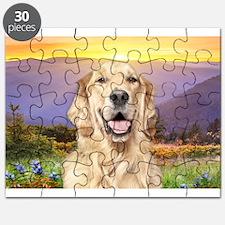 Golden Retriever Meadow Puzzle