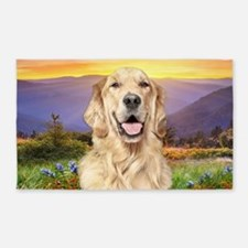 Golden Retriever Meadow 3'x5' Area Rug