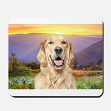 Golden Retriever Meadow Mousepad