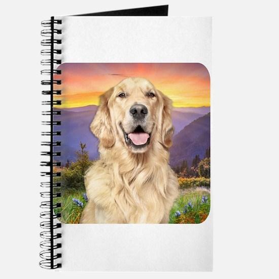 Golden Retriever Meadow Journal