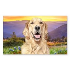 Golden Retriever Meadow Decal
