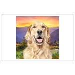 Golden Retriever Meadow Large Poster