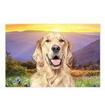 Golden Retriever Meadow Postcards (Package of 8)