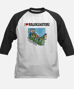 I Love Rollercoasters Baseball Jersey