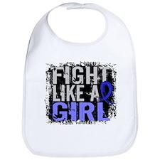 Licensed Fight Like a Girl 31.8 Anal Cancer Bib
