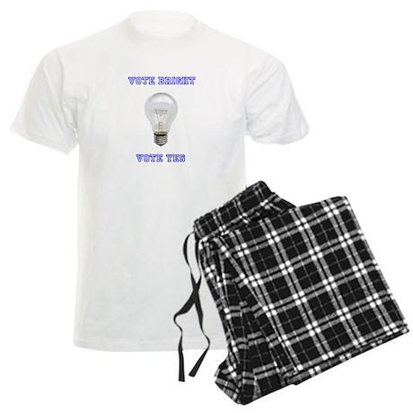 Vote Bright Vote Yes Men's Light Pajamas