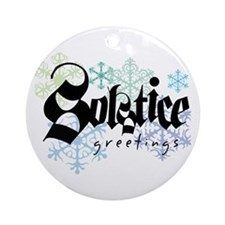 Solstice Greetings Ornament (Round)