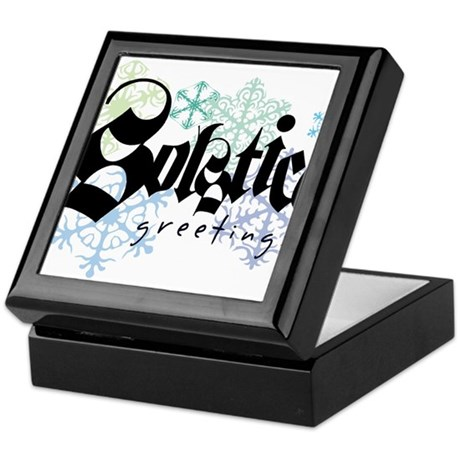 Solstice Greetings Keepsake Box