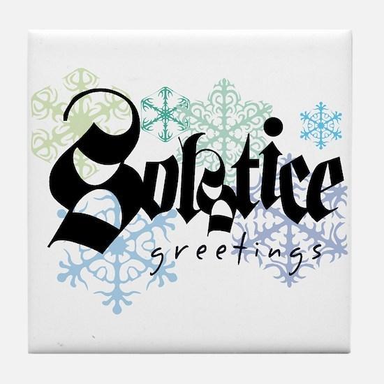 Solstice Greetings Tile Coaster