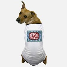 1930 Iceland Viking Ship Postage Stamp Dog T-Shirt