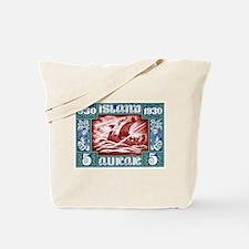 1930 Iceland Viking Ship Postage Stamp Tote Bag