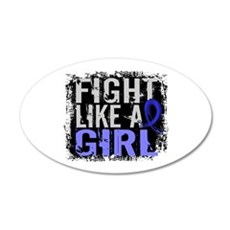 Licensed Fight Like a Girl 3 Wall Decal