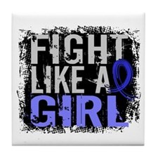 Licensed Fight Like a Girl 31.8 RA Tile Coaster