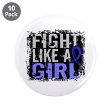 """Licensed Fight Like a Girl 3 3.5"""" Button (10 pack)"""
