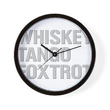 WHISKEY TANGO FOXTROT gp Wall Clock