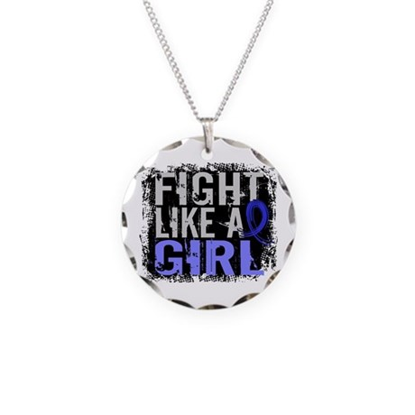 Fight Like a Girl 31.8 Huntingtons Necklace Circle