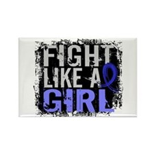 Fight Like a Girl 31.8 Huntingtons Rectangle Magne