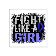 Fight Like a Girl 31.8 Huntingtons Square Sticker