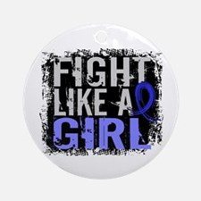 Fight Like a Girl 31.8 Huntingtons Ornament (Round