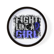 Fight Like a Girl 31.8 Huntingtons Wall Clock