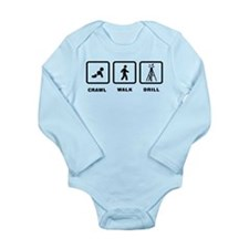 Oil Drilling Long Sleeve Infant Bodysuit