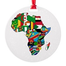 Flag Map of Africa Ornament