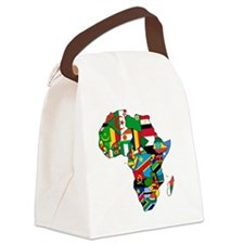 Flag Map of Africa Canvas Lunch Bag