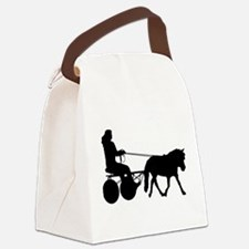 driving silhouette Canvas Lunch Bag