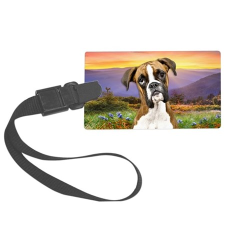 Boxer Meadow Large Luggage Tag
