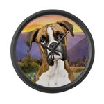 Boxer Meadow Large Wall Clock