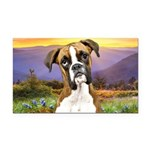 Boxer Meadow Rectangle Car Magnet
