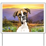 Boxer Meadow Yard Sign