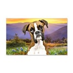 Boxer Meadow 20x12 Wall Decal