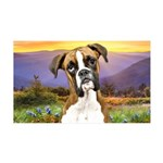 Boxer Meadow 35x21 Wall Decal