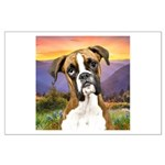 Boxer Meadow Large Poster