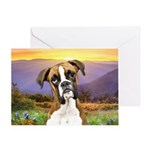 Boxer Meadow Greeting Card