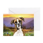 Boxer Meadow Greeting Cards (Pk of 20)