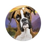 Boxer Meadow Ornament (Round)