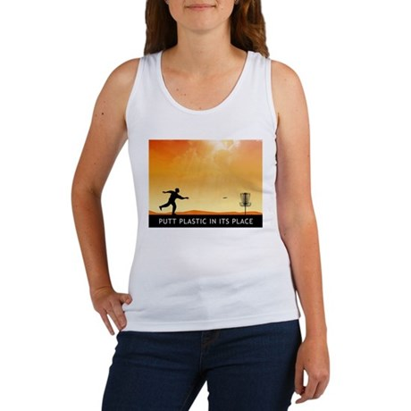 Putt Plastic In Its Place #7 Women's Tank Top
