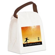 Putt Plastic In Its Place #7 Canvas Lunch Bag