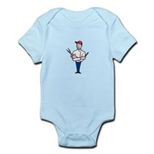 Barber Comb and Scissors Cartoon Infant Bodysuit