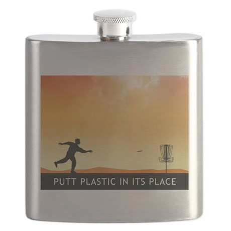 Putt Plastic In Its Place #7 Flask