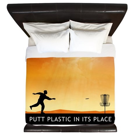 Putt Plastic In Its Place #7 King Duvet