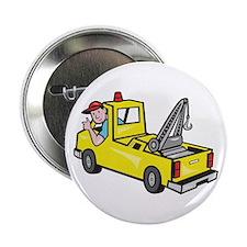 """Tow Wrecker Truck Driver Thumbs Up 2.25"""" Button"""
