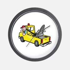 Tow Wrecker Truck Driver Thumbs Up Wall Clock