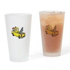 Tow Wrecker Truck Driver Thumbs Up Drinking Glass
