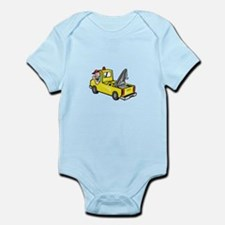 Tow Wrecker Truck Driver Thumbs Up Infant Bodysuit